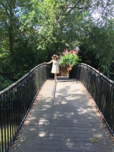 Amy on a bridge on the River Avon in Salisbury