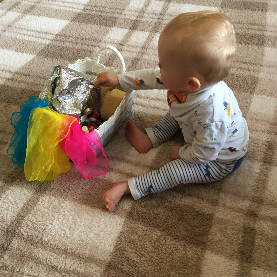 Busy Baby Week: Day 7 - Treasure Basket - Our Whimsical World